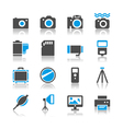 Photography icons reflection vector | Price: 1 Credit (USD $1)