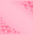 pink hearts design for valentines day a template vector image vector image