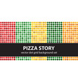 polka dot pattern set pizza story seamless vector image vector image