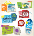 price tag summer retro vintage collection vector image