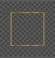 realistic square frame with glowing lights vector image