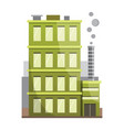 retro flat city house icon town building or vector image vector image