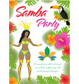 samba party poster invitation flyer brazilian vector image