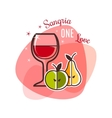Sangria and fruits emblem vector image vector image