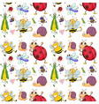 Seamless design with insects vector image vector image