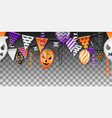 seamless halloween party vector image vector image