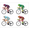 Set of different Racing cyclist in action vector image vector image