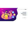 smart training concept landing page vector image vector image