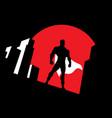 superhero background symbol vector image vector image