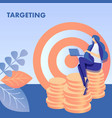 targeting audience search flat vector image vector image
