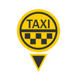taxi logotype in round shape isolated on white vector image vector image
