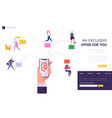 user social network chatting concept landing page vector image