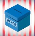 Voting box USA Election 2016 vector image