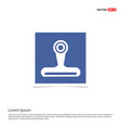 web cam icon - blue photo frame vector image
