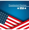 flag usa presidential election graphic vector image