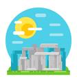 Stonehenge site flat design landmark vector image