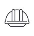 construction helmet line icon sig vector image