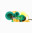 abstract colorful geometric composition vector image vector image