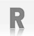 Alphabet R vector image