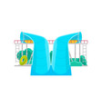 aqua park water slide icon vector image