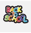 Back to School Label Concept vector image vector image