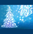 blue background with christmas tree vector image