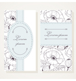 Business card set with poppies vector image