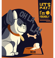 Cartoon dog flat style design vector image vector image