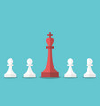 chess king and pawns vector image vector image