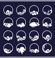 chinese cloud and modern icon set vector image vector image