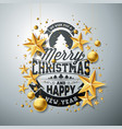 christmas and new year with vector image vector image