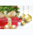 christmas baubles on defocussed background vector image vector image