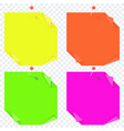 color bright paper on transparent vector image