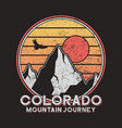 colorado typography graphics with mountains vector image vector image