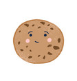 cute chip cookie flat vector image