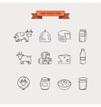 Dairy production Icon set vector image
