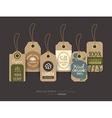 eco friendly fabric cloth tag labels vector image vector image