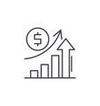 economic growth line icon concept economic growth vector image vector image
