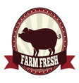 Farm fresh pork resize vector image