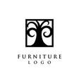 furniture logo vector image vector image