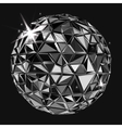 geometric black polygonal ball vector image