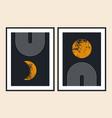 geometric line balance shapes rainbow moon sun vector image vector image