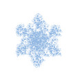 grainy isolated snowflake vector image vector image