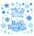 greeting new year vector image