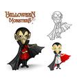 Halloween monsters spooky vampire EPS10 file vector image