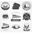happy veterans day set independence day vector image