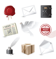 highly detailed post icons set vector image vector image