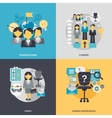 Human Resources Flat vector image vector image