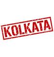 Kolkata red square stamp vector image vector image