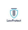 law protect icon logo vector image vector image